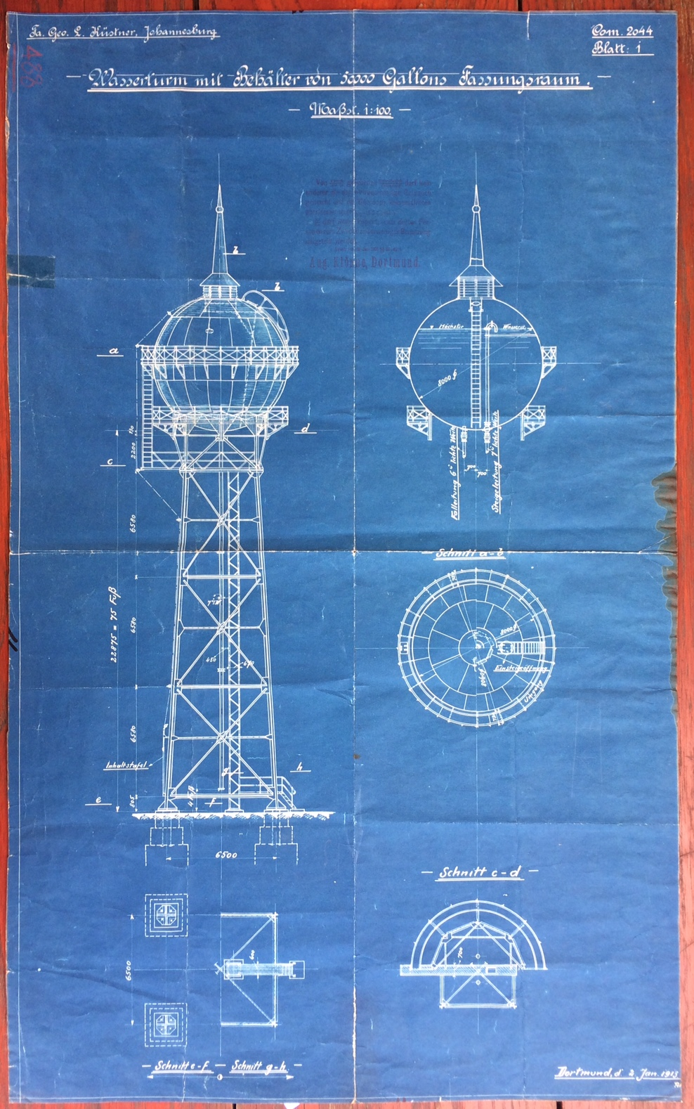 Heritage archives the johannesburg inner city partnership blueprint of the yeoville water tower malvernweather Gallery
