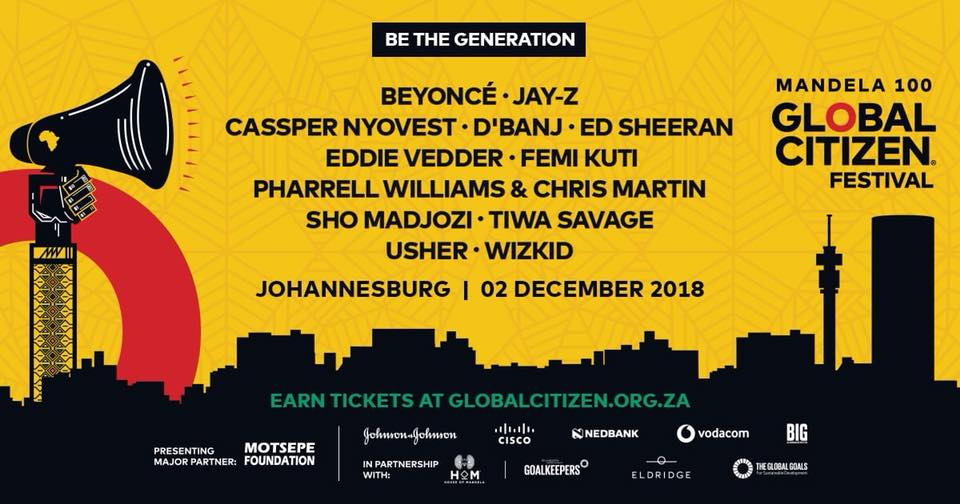 Global Citizen Festival 2 December 2018