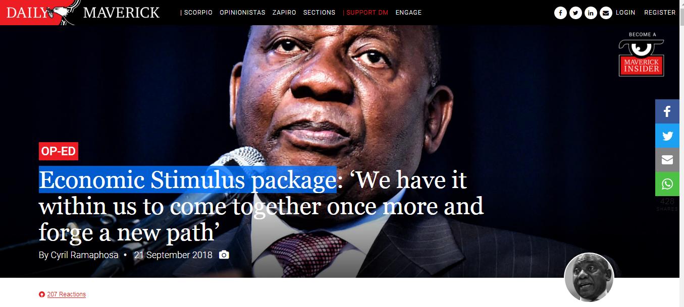 Ramaphosa's economic stimulus package