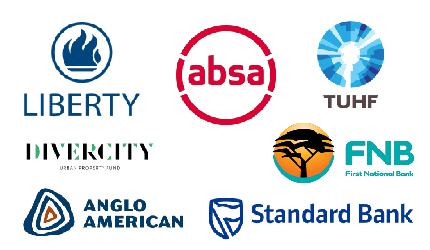 Contributors - Absa, Liberty, FNB, TUHF, Standard Bank, Divercity,